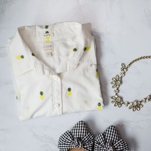 J CREW PINEAPPLE SHIRT!!